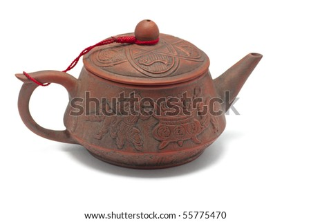 Chinese clay pot - stock photo