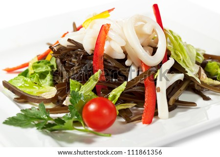 Chinese Cuisine - Calamary with Vegetables Salad