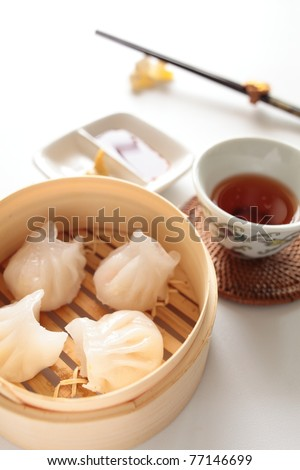 Chinese cuisine, steamed shrimp gyoza