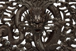 chinese dragon,wooden
