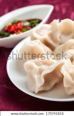 Chinese dumplings. Lunar new year dish. Dumpling is a traditional dish for Chinese New Year\'s Eve.