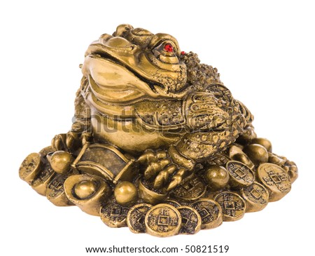 Chinese feng shui lucky money frog for good luck and - Feng shui good luck coins ...
