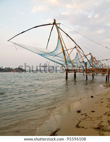 Chinese Fishnet in Fort Cochin, Kerala, India
