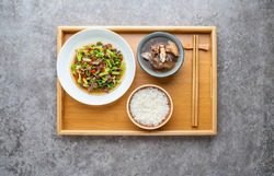 Chinese food and nutritious personal rice set