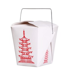 chinese food box container isolated on white background
