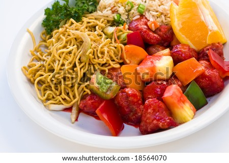 chinese food combo stock photo 18564070 shutterstock. Black Bedroom Furniture Sets. Home Design Ideas