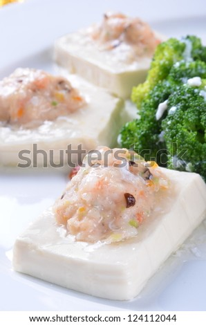 Chinese food-Meat Stuffed Tofu