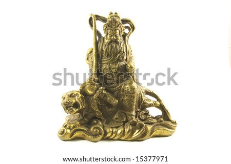 Chinese God of Wealth commonly used in business offices for feng shui