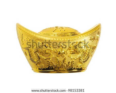 Chinese gold ingot mean symbols of wealth and prosperity.