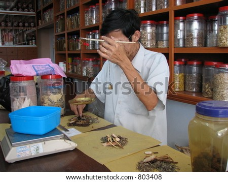 Chinese herb store Physician