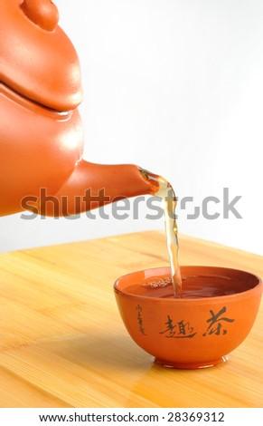Chinese japanese tea ceremony - stock photo