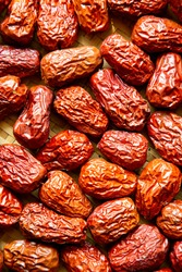 Chinese jujube dry fruit traditional chinese eatable.Agricultural products.