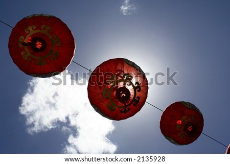 Chinese Lantern or so called lampion during chinese new year in brisbane, australia