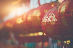 Chinese lanterns during new year festival  2020