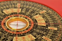 Chinese Lo Pan compass, used in Feng Shui.