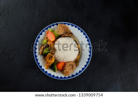 chinese lohan vegetarian rice