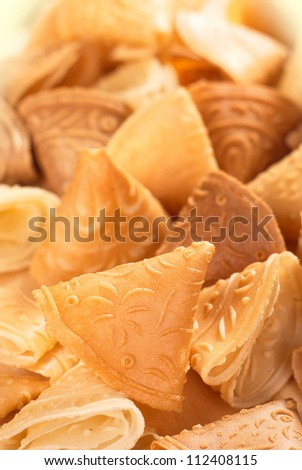 Chinese Love Letter Biscuits - Traditional Chinese New Year Pastries. Unsharpened file
