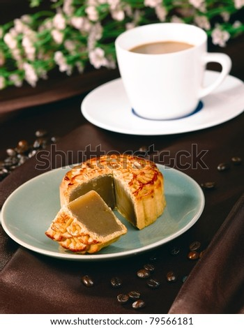 Chinese Moon Cake For Celebration Of Mid- Autumn Festival