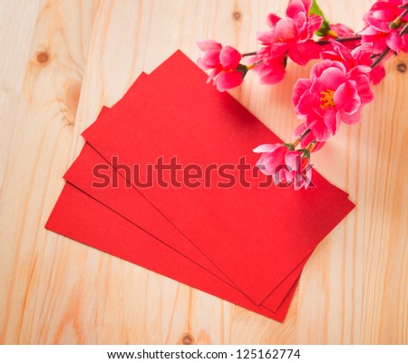 Chinese new year festival decorations blank red packet or for Ang pow packet decoration