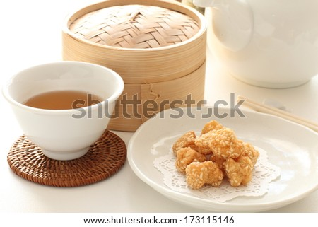 Chinese new year food, sesame seed ball