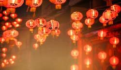 Chinese new year lanterns in chinatown,