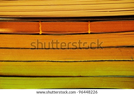 Chinese notebooks stacked