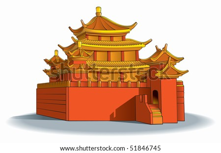 chinese pagoda  in detail