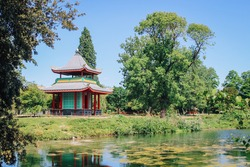Chinese Pagoda in Victoria Park, east London