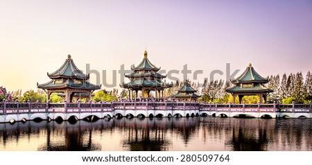 Chinese pavilion, Ancient City, Bangkok, Thailand