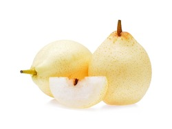 Chinese pear on white background