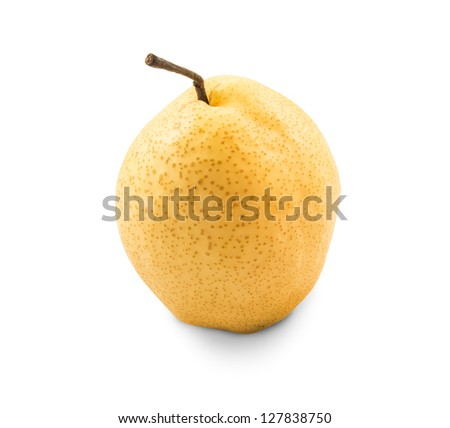 Chinese pear on white background : contain clipping path
