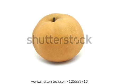Chinese Pear, Pyrus pyrifloral, isolated on white - stock photo