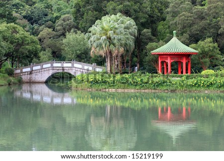 Chinese Pond in university campus
