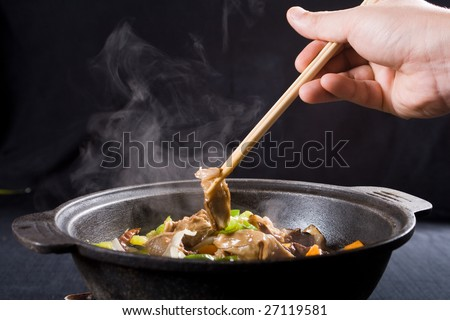 chinese pork meat cuisine