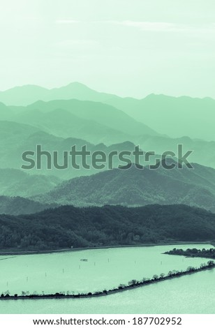Stock Photo Chinese river mountain scenery