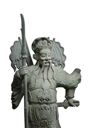 Chinese Sculpture Isolated Background, Chinese Sculpture Di cut on Background...