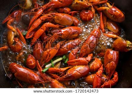 Chinese Spicy crayfish, Chinese Food ストックフォト ©