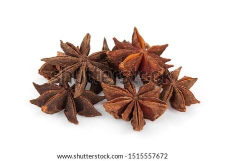 chinese star anise, star anise or star aniseed isolated on white background #1515557672