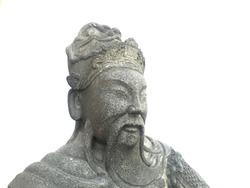 Chinese stone sculpture on white brackground