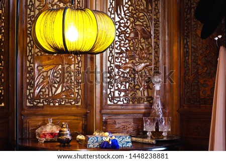 Chinese-style rooms with Thai and retro makeup