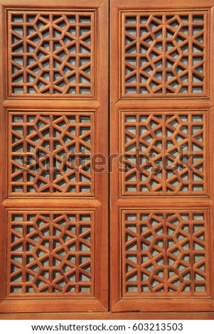 Chinese style wooden windows #603213503