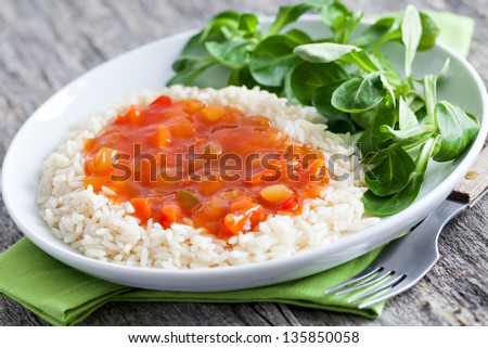 chinese sweet sour with rice