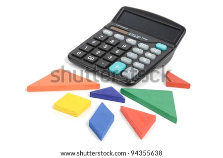 Chinese tangram and calculator