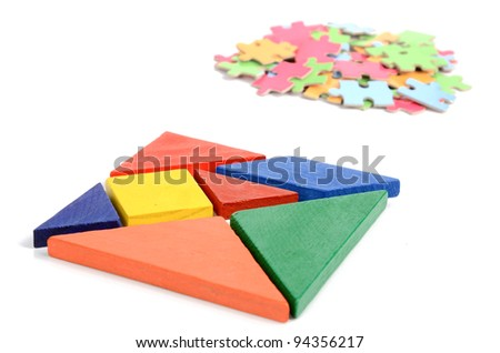 Chinese tangram and puzzle
