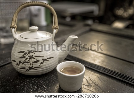 chinese tea time, chinese tea-Vintage Style