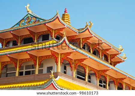 Chinese temple, Chonburi in Thailand