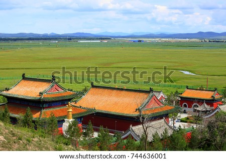 Chinese temples building #744636001