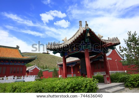 Chinese temples building #744636040