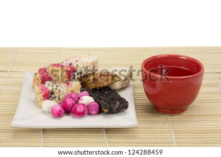 chinese tradition  candy with tea