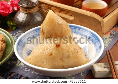 Chinese tradition food - steamed rice dumpling